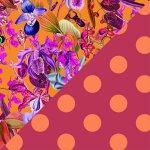 Orchid Rush + Fuchsia & Orange Polka Dots