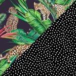 Midnight Jungle + Black & White Dots